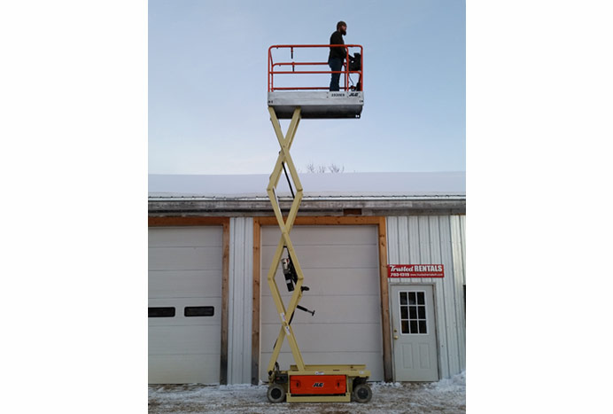 Electric Scissor Lift in action