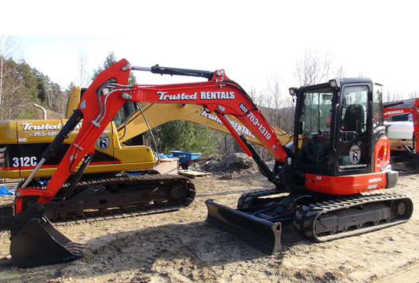 Kubota KX 057 Mini Excavator with Rubber Tracks