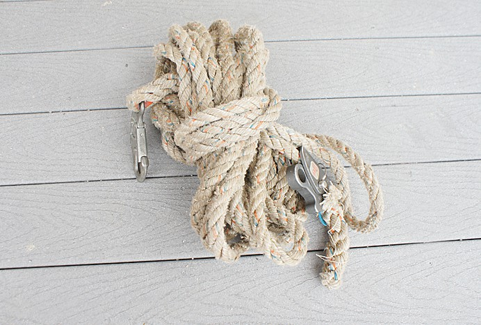 Rope for fall arrestor harneses