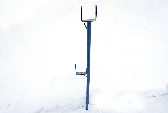Upright for wall bracket